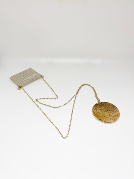 Garden Party Chain Large Circular Necklace