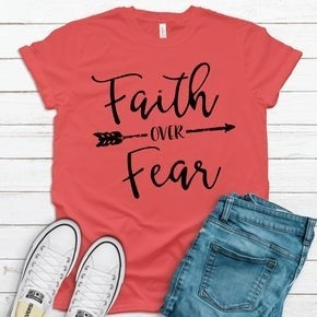 Faith Over Fear RED Graphic T