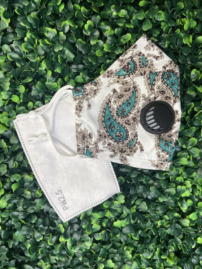 Paisley Face Mask with 1 Filter ***Multiple Colors