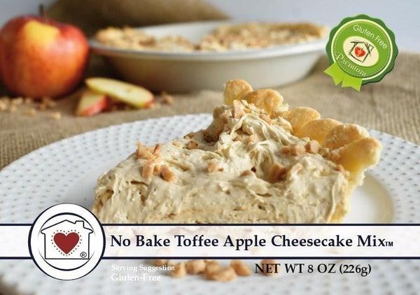 No Bake Toffee Apple Cheesecake