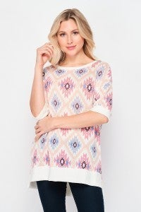 SMALL & MED ONLY Mosaic Tunic Top
