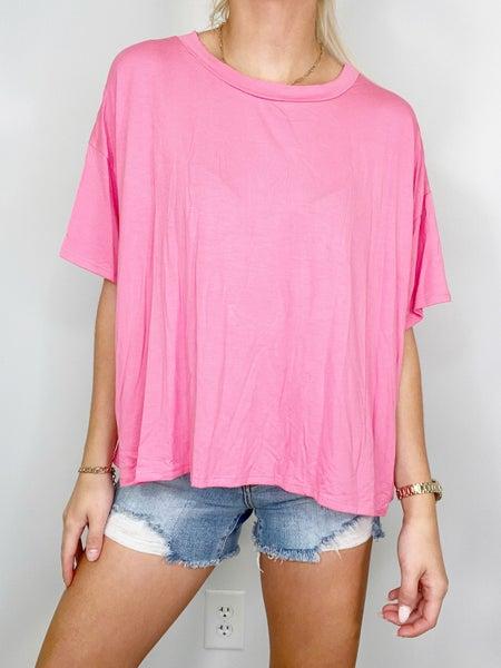Pink Scoop Neck Top