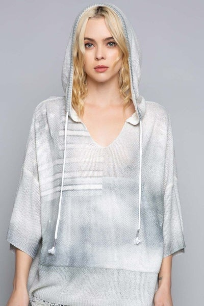 POL Washed Out Americana Lightweight Sweater