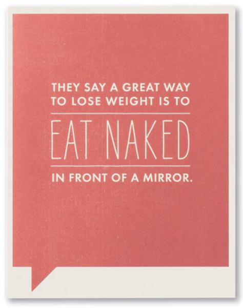 Eat Naked...card