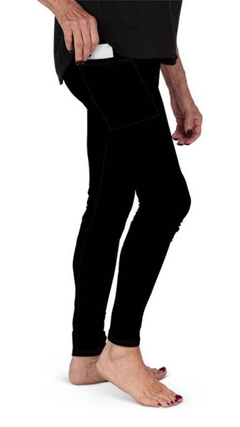Solid Black Full Length Leggings