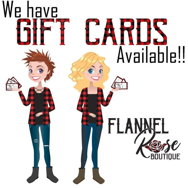 Flannel Rose Gift Card
