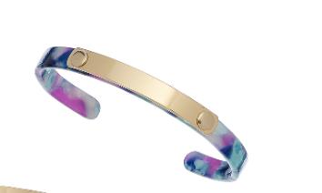 Marbleized Thin Cuff Bracelets