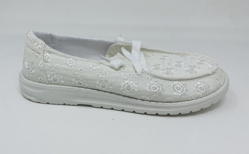 Hooray White Loafers