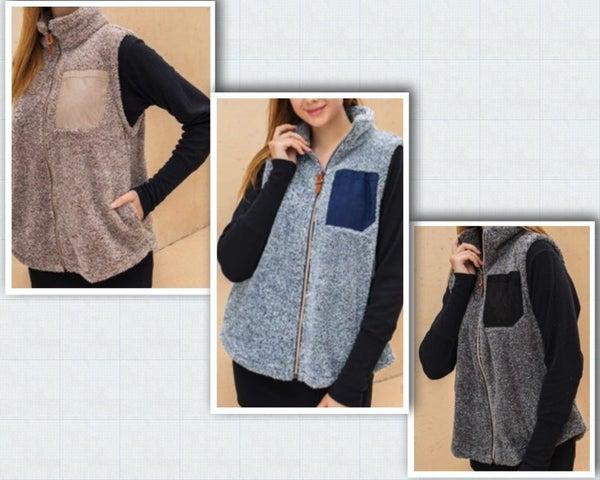 Rue Front Pocket Sherpa Vest