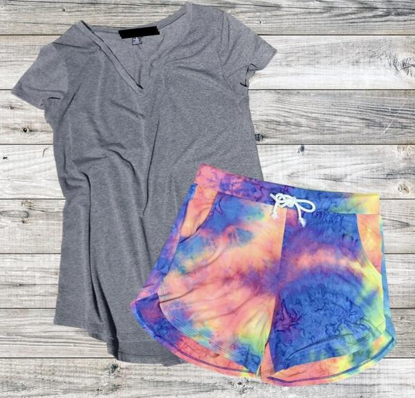 Over The Rainbow Tie Dye Shorts