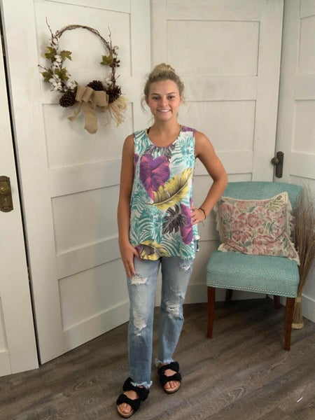 Honeyme French Terry Tropical Tank