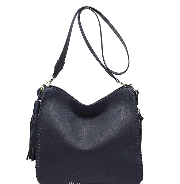 Whipstitch Crossbody with Wide Straps