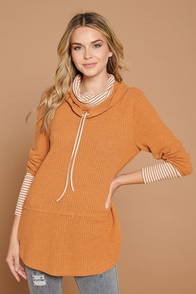 Double Layered Turtle Neck Pullover