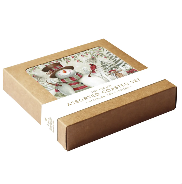 Snowman Boxed Coaster Set