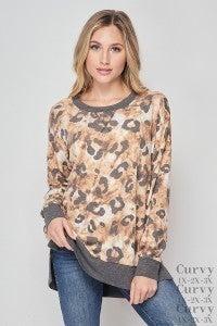 Honeyme Brown & Charcoal Leopard Weekender
