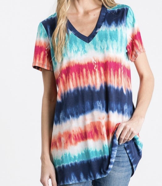 Tie dye I Love You Top