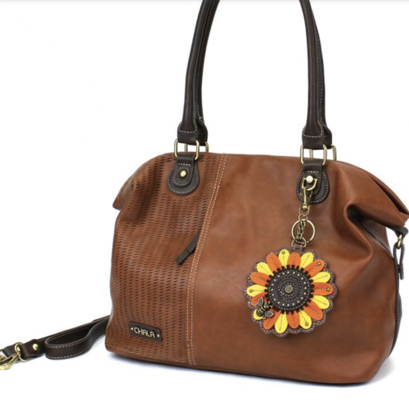 """""""Chala"""" Sunflower Fob Laser Cut Tote"""