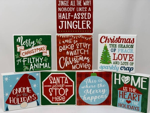 Block Christmas Signs