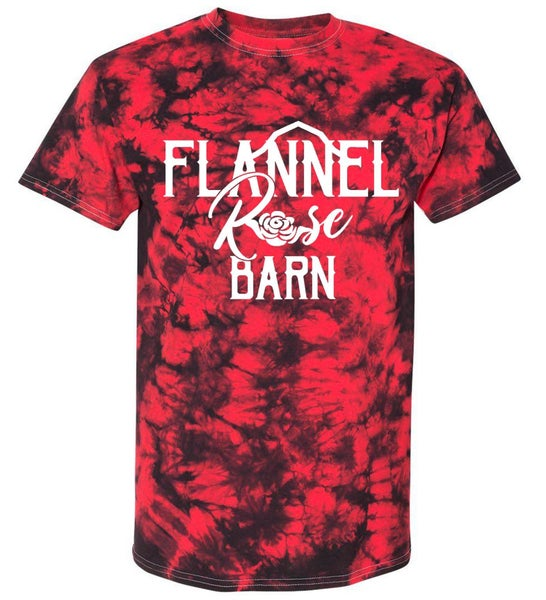 Flannel Rose Barn Tie Dye Short Sleeve Top