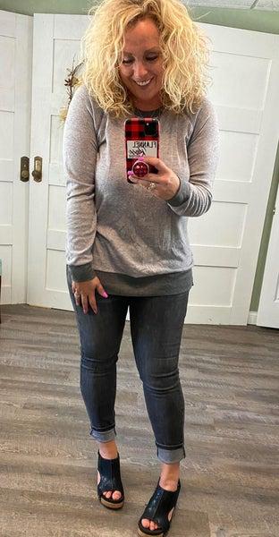 Honeyme Grey Uber Soft Sweatshirt
