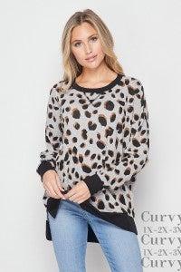 Honeyme Grey, Black and Mocha Leopard