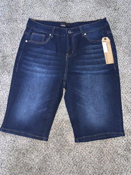 Dark Wash Enjoy Denim Bermuda Shorts