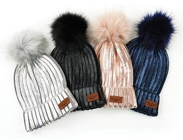 Glacier Knit Pom Hat