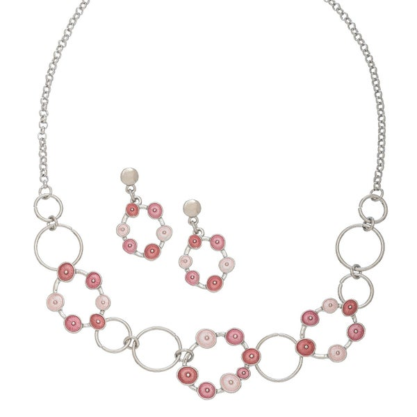 Floral Circle Jewelry Set