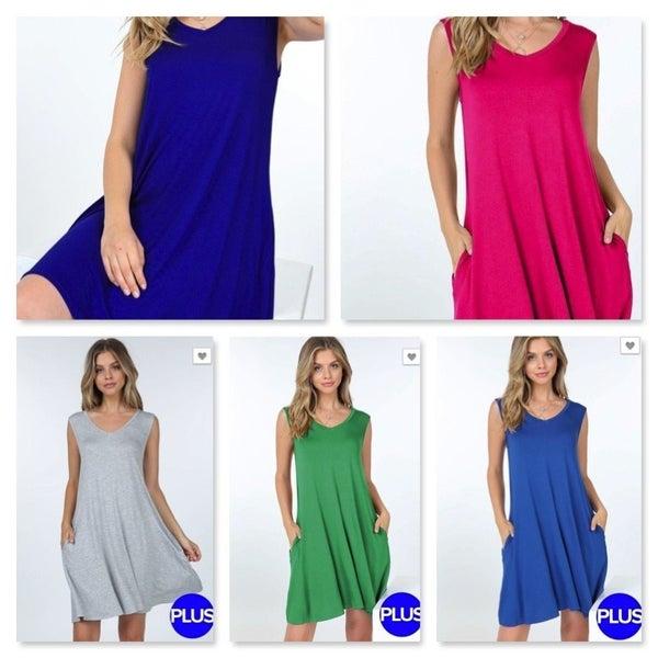 Basic Sleeveless V-Neck Dress