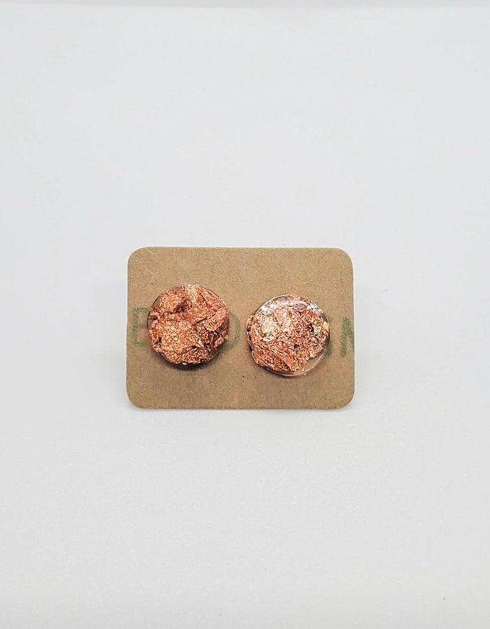 Foil and Resin Earrings