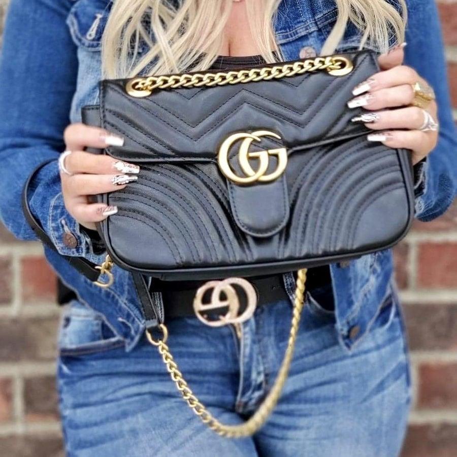 Designer Gucci and Louis Vuitton handbag Collection