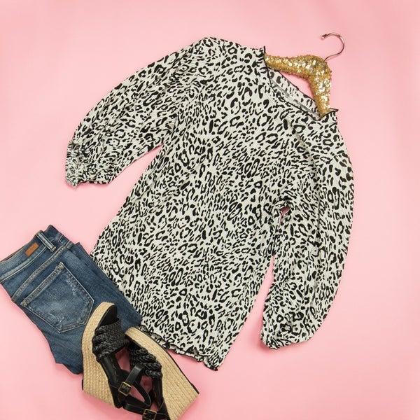 Cream Leopard Top