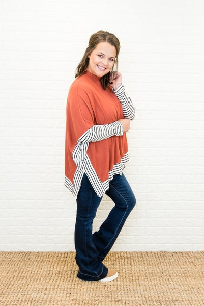 Crisp Fall Poncho Top *all sales final*