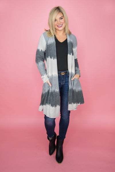 Gray Ombre Cardigan