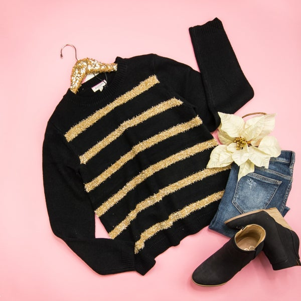 Gold Tinsel Sweater *ALL SALES FINAL