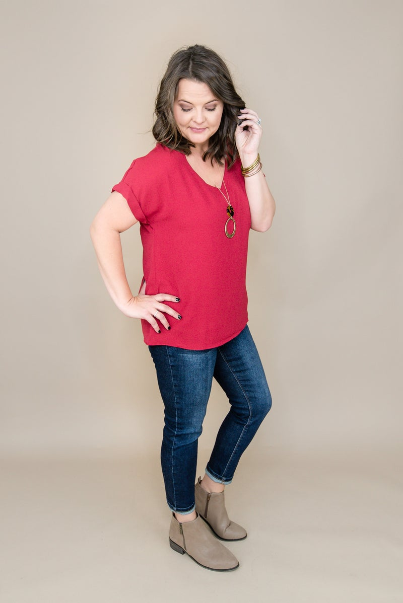 Spicy Red Blouse