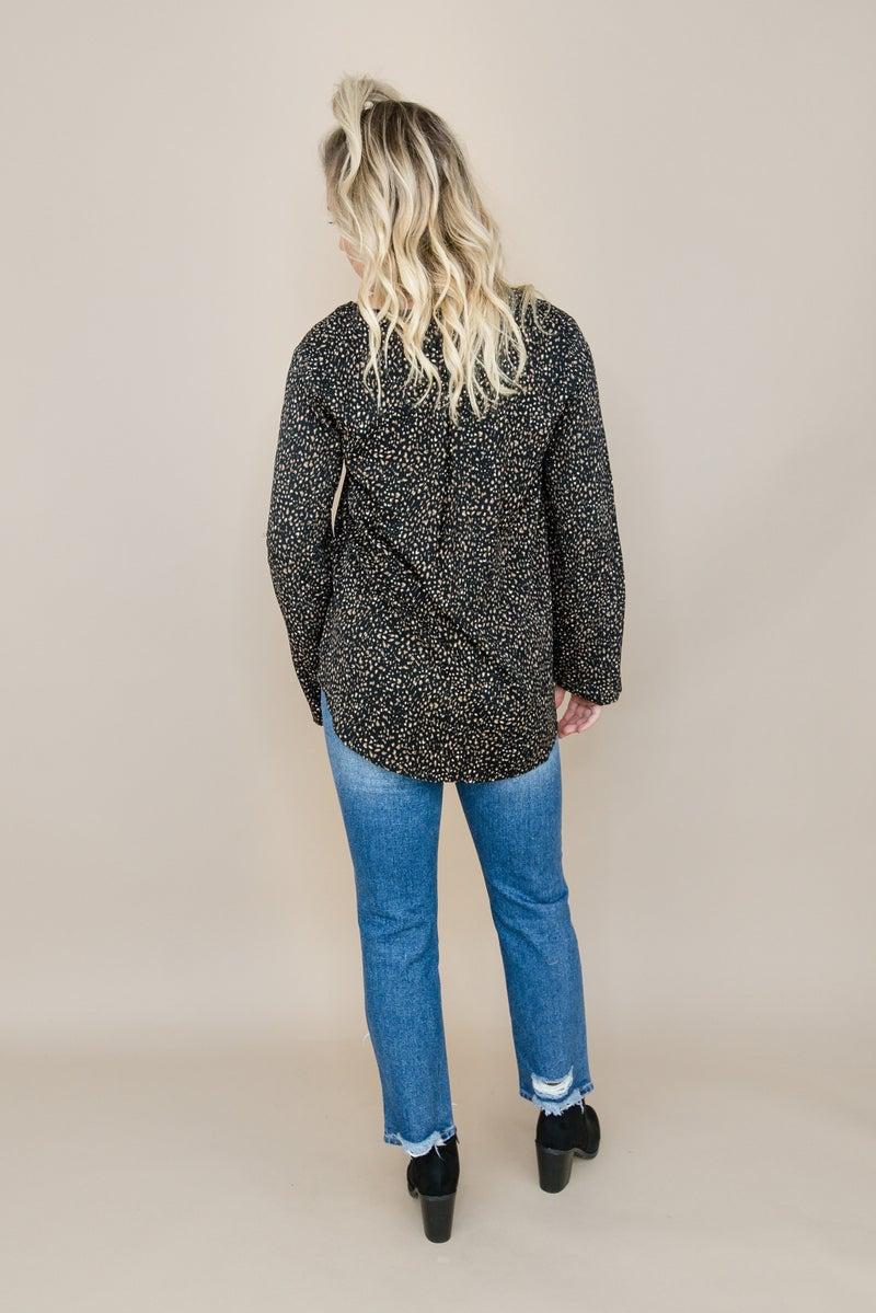 Elegant Leopard Blouse