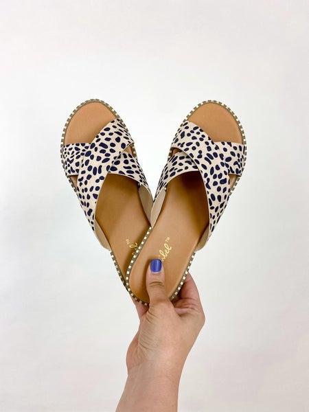 Spotty Dot Slip On Sandals