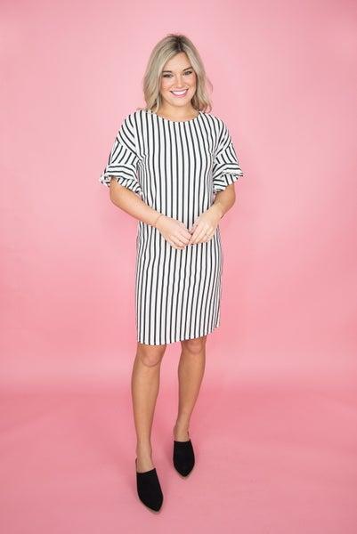 Stripe Flutter Dress