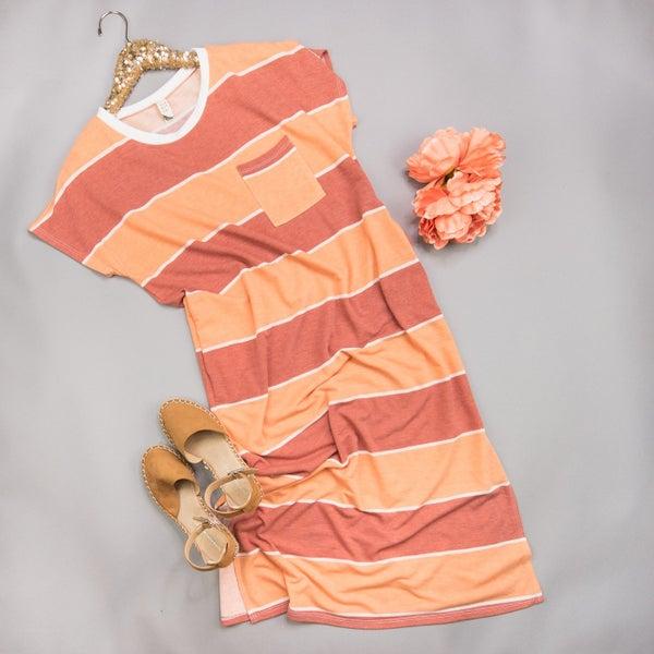 Orange Midi Dress *all sales final*