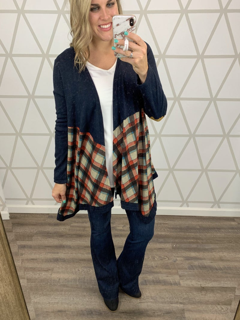 SATURDAY STEALS // Flowy Plaid Cardigan // ALL SALES FINAL