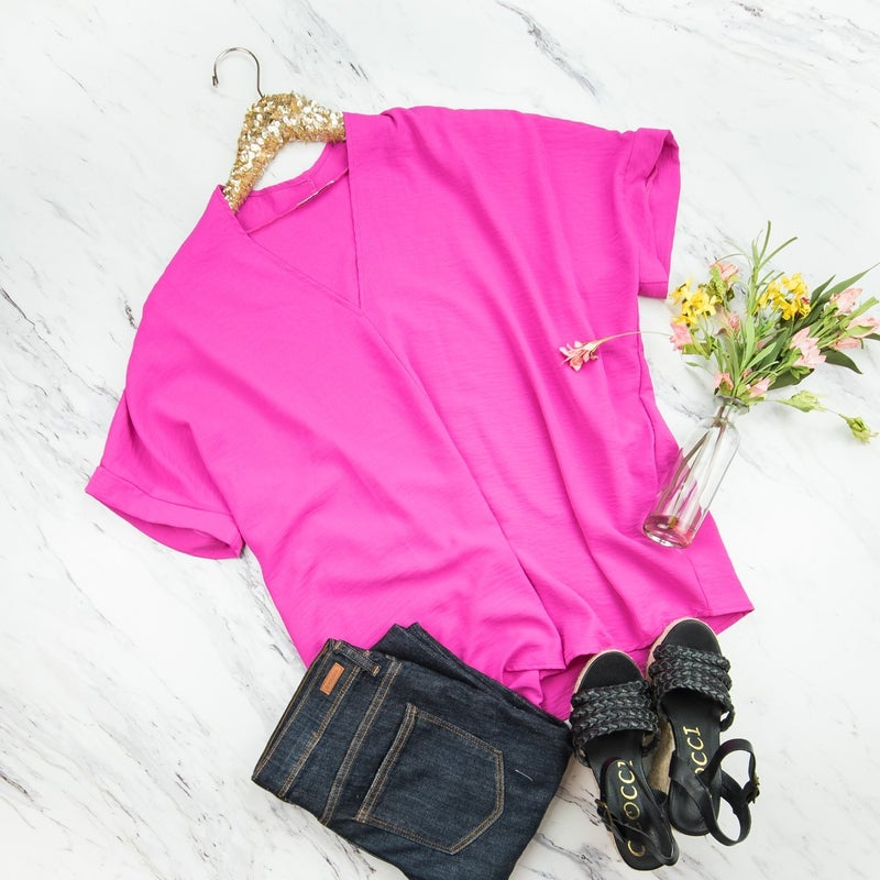 Brightest Pink Top