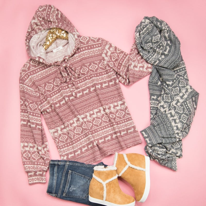 Fleece Winter Hooded Pullover *ALL SALES FINAL