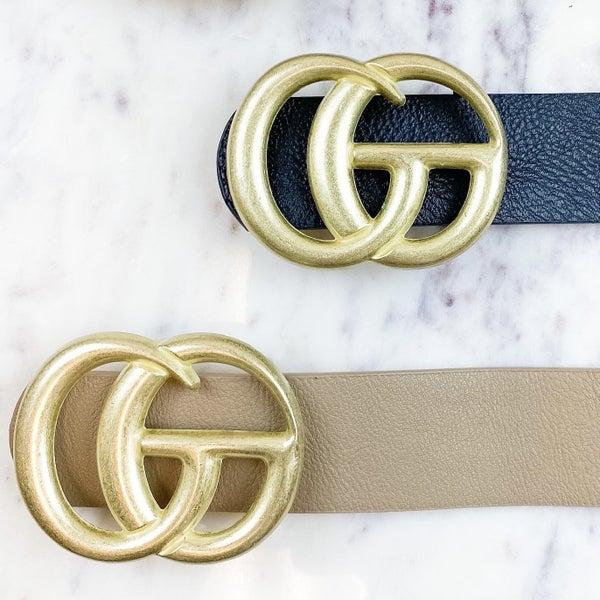 Designer Dupe Matte Belt
