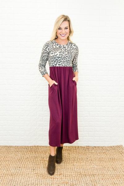 Sipping Wine Leopard Dress