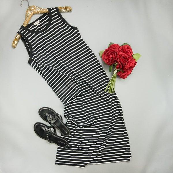 Stripe Midi Dress *all sales final*
