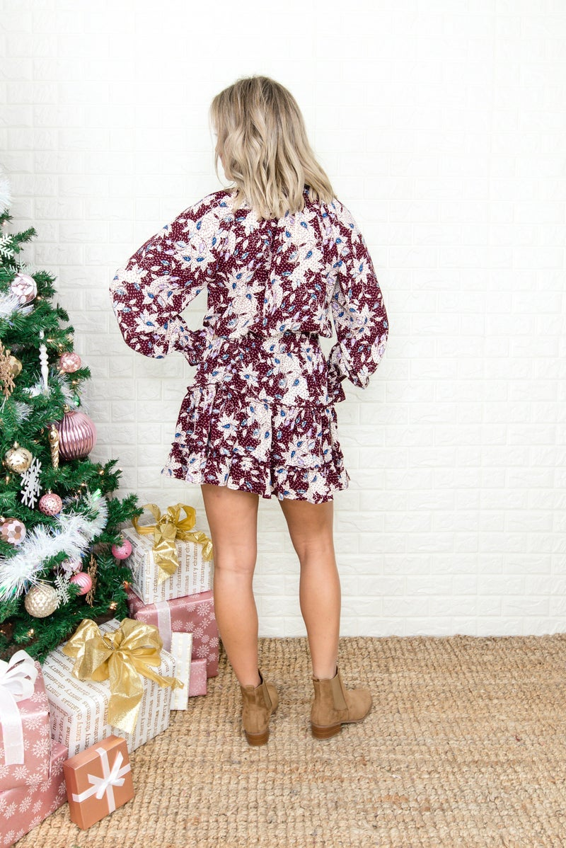 Holiday Floral Dress