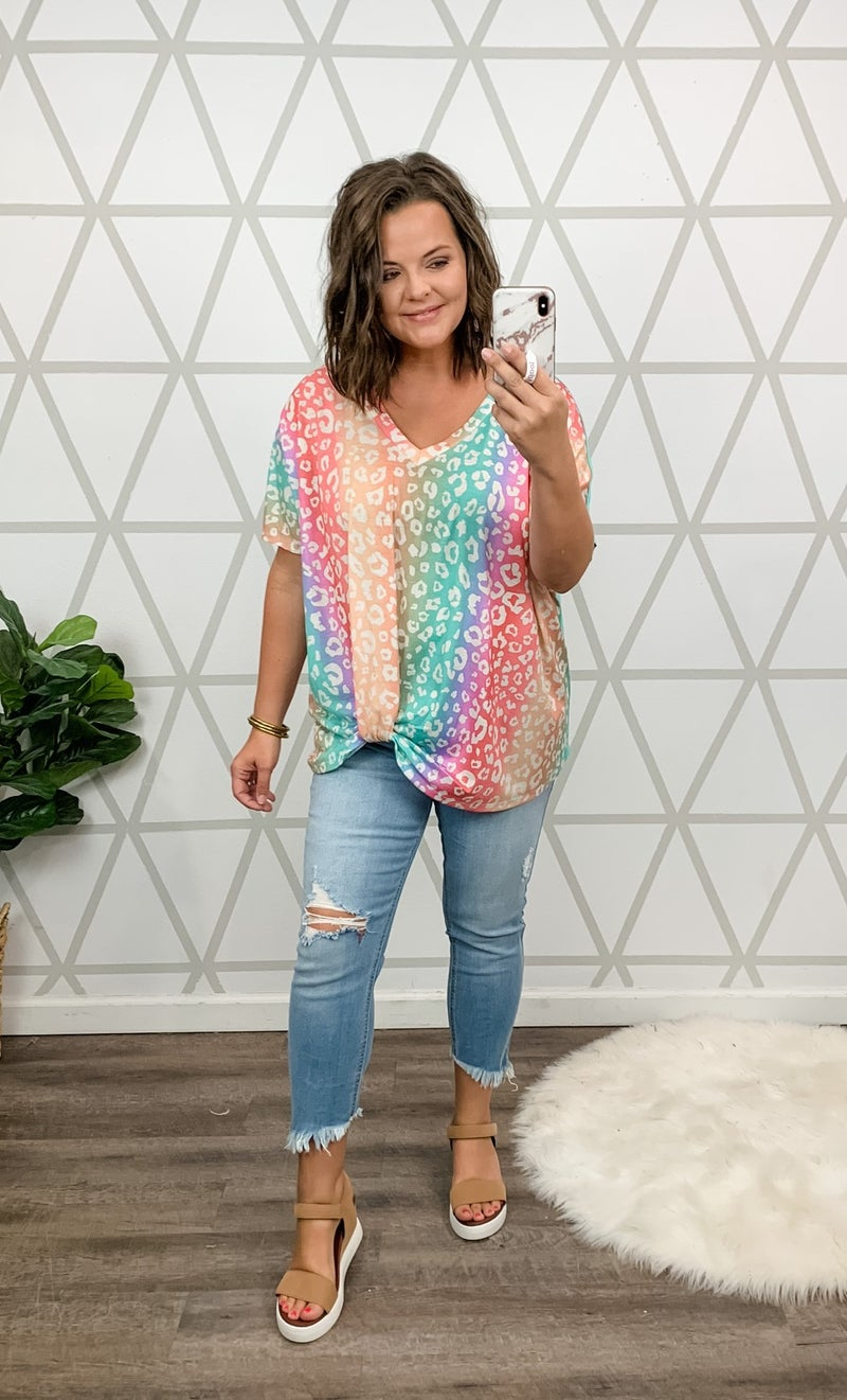 Rainbow Leopard Top