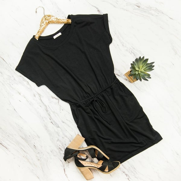 Pinch Of Love Black Dress