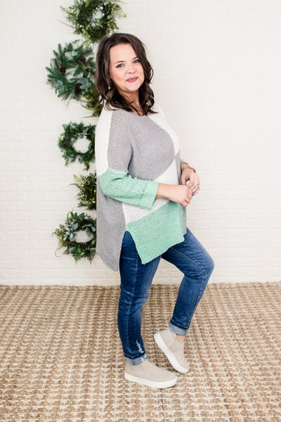 Flaunt Slouch Block Sweater